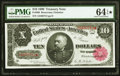 Fr. 368 $10 1890 Treasury Note PMG Choice Uncirculated 64 EPQ★