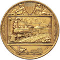 Expositions and Fairs, 1883 National Exposition of Railway Appliances, Chicago, Gold Medal, Harkness Nat-220, MS62 NGC. ...