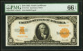 Large Size:Gold Certificates, Fr. 1173a $10 1922 Gold Certificate PMG Gem Uncirculated 66 EPQ.. ...