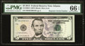 """Small Size:Federal Reserve Notes, Fr. 1996-F $5 2013 Federal Reserve Note with """"Repeater"""" Serial Number 08100810. PMG Gem Uncirculated 66 EPQ.. ..."""