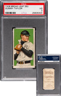Baseball Cards:Singles (Pre-1930), 1909-11 T206 Broad Leaf 350 Dummy Taylor PSA VG 3 - The Only PSA Example! ...
