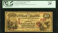 San Jose, CA - $10 1874 Fr. 1148 The Farmers National Gold Bank Ch. # 2158 PCGS Very Fine 20