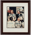 Autographs:Photos, 1974 Baseball Hall of Fame Inductees Multi-Signed Photograph Framed Display (4 Signatures)....