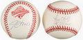 Autographs:Baseballs, Jim Leyritz & Paul O'Neill Single Signed Baseball Pair.... (Total: 2 items)