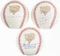 Autographs:Baseballs, Joe Torre, Andy Pettitte, Tino Martinez Single Signed Baseball Trio.... (Total: 3 items)