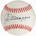 Autographs:Baseballs, Joe DiMaggio Single Signed Baseball, PSA/DNA NM-MT 8....