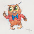 Animation Art:Production Drawing, Virgil Ross - I Love to Singa Owl Jolson Drawing (WarnerBrothers, c. 1990s)...