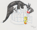 Animation Art:Production Drawing, Virgil Ross - Tweety and Sylvester Drawing (Warner Brothers, c.1990s). . ...