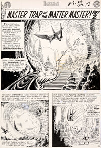 """Murphy Anderson Hawkman #9 """"Master Trap of the Matter Master!"""" Part 2 Original Art Group of 10 (DC, 1965)..."""