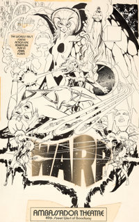 Neal Adams WARP! Play Poster Illustration Original Art, Printed Poster, and Playbill Magazine Group of