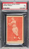 Baseball Cards:Singles (1930-1939), 1933 Uncle Jacks Candy Frank Frisch PSA EX 5 - Pop Two, None Higher. ...