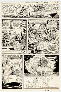 Curt Swan and Murphy Anderson Action Comics #399 Story Page 4 Original Art Panel Page (DC Comics, 1971)