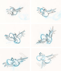 Aladdin Iago Animation Drawings Sequence of 6 (Walt Disney, 1992).... (Total: 6 Items)