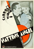 """Movie Posters:Crime, The Night Angel (Paramount, 1931). Folded, Very Fine. Swedish One Sheet (27.5"""" X 39.5"""").. ..."""