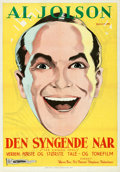 Movie Posters:Musical, The Singing Fool (Warner Brothers, 1929). Folded, Very Fin...