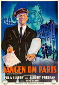"Movie Posters:Drama, Under the Roofs of Paris (Scaniafilm, 1930). Folded, Very Fine+. Swedish One Sheet (27.5"" X 39.5"").. ..."