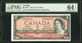 Canada Bank of Canada $2 1954 BC-38bT Test Note PMG Choice Uncirculated 64 EPQ