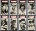 Baseball Cards:Lots, 1936 Goudey Wide Pen Premiums PSA-Graded Collection (8). ...