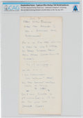 Explorers:Space Exploration, Boy Scouts XIII World Jamboree, Japan 1971, Handwritten Notes by Neil Armstrong, Directly From The Armstrong Family Collection...