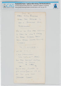 Boy Scouts XIII World Jamboree, Japan 1971, Handwritten Notes by Neil Armstrong, Directly From The Armstrong Family Coll...