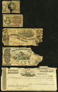 A Mixed Lot Including an Obsolete Note, a Check, a Confederate Note, and Two Fractionals. Fair or Better. ... (Total: 5...