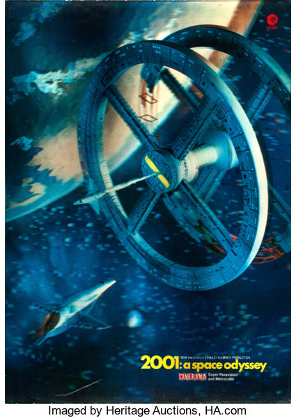Still Pictures Are All Very Fine And >> 2001 A Space Odyssey Mgm 1968 Fine Very Fine Cinerama 3 D Poster 23 X 33