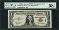 Small Size:World War II Emergency Notes, Fr. 2300 $1 1935A Hawaii Silver Certificate. PMG Choice About Unc 58 EPQ.. ...