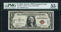 Small Size:World War II Emergency Notes, Fr. 2300 $1 1935A Hawaii Silver Certificate. L-C Block. PMG About Uncirculated 55 EPQ.. ...