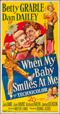 """Movie Posters:Musical, When My Baby Smiles at Me (20th Century Fox, 1948). Folded,Fine/Very Fine. Three Sheet (41"""" X 78.75). Musical.. ..."""