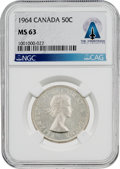 Explorers:Space Exploration, Coins: Canada 1964 50¢ MS63 NGC Half Dollar Directly From The Armstrong Family Collection™, CAG Certified. ...