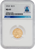 Explorers:Space Exploration, Coin: 1910 MS62 NGC $2½ Gold Indian Head Quarter Eagle Coin Directly From The Armstrong Family Collection™, CAG Certified....