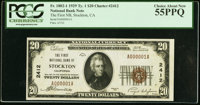 Stockton, CA - $20 1929 Ty. 1 The First NB Ch. # 2412 PCGS Choice About New 55PPQ