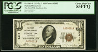 Stockton, CA - $10 1929 Ty. 1 The First NB Ch. # 2412 PCGS Choice About New 55PPQ
