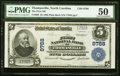National Bank Notes:North Carolina, Thomasville, NC - $5 1902 Plain Back Fr. 600 The First NB Ch. # 8788 PMG About Uncirculated 50.. ...