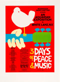 Music Memorabilia:Posters, Woodstock Poster Special Silkscreen Edition Signed by the Artist.. ...