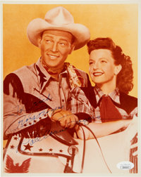 Roy Rogers and Dale Evans Signed Color Photo