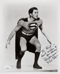 Movie/TV Memorabilia:Autographs and Signed Items, Kirk Alyn Signed and Inscribed Superman Black and White Photo. . ...