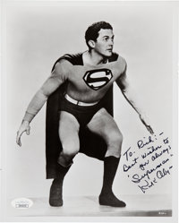 Kirk Alyn Signed and Inscribed Superman Black and White Photo