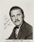Movie/TV Memorabilia:Autographs and Signed Items, Kirk Douglas Signed and Inscribed Gunfight at the O.K. Corral Black and White Photo. . ...