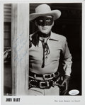 Movie/TV Memorabilia:Autographs and Signed Items, John Hart Signed and Inscribed The Lone Ranger Black and White Photo. . ...