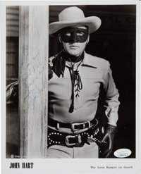 John Hart Signed and Inscribed The Lone Ranger Black and White Photo