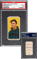 Baseball Cards:Singles (Pre-1930), 1909-11 T206 Drum Bob Bescher (Portrait) PSA VG+ 3.5 - The Only Confirmed Example! ...
