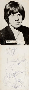 Music Memorabilia:Autographs and Signed Items, The Rolling Stones Signed Postcard (1964). . ...