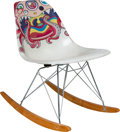 Furniture:Contemporary, Takashi Murakami X ComplexCon X Modernica. Rocking Chair, 2017. Fiberglass. 27 x 16 x 27 inches (68.6 x 40.6 x 68.6 cm)...
