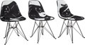 Furniture:Contemporary, Cleon Peterson X Museum of Contemporary Art Denver X Modernica. Case Study Chairs, set of three, 2018. Fiberglass with b... (Total: 3 Items)