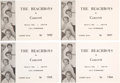 Music Memorabilia:Memorabilia, The Beach Boys Southern Oregon College Concert Tickets (4) and Yearbook Featuring a Review of the Show (1966). . ...