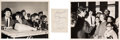 Music Memorabilia:Autographs and Signed Items, The Beatles Signed Paper With Photos (1964). . ...