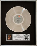 Music Memorabilia:Awards, Staying Alive Soundtrack RIAA Platinum Sales Award (RSO/Polygram, 1983). . ...