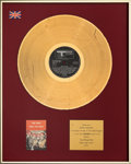Music Memorabilia:Awards, The Who Odds and Sods British In-House Gold Sales Award (Track, 1974). . ...