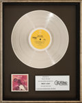 Music Memorabilia:Awards, Meat Loaf Bat Out of Hell...